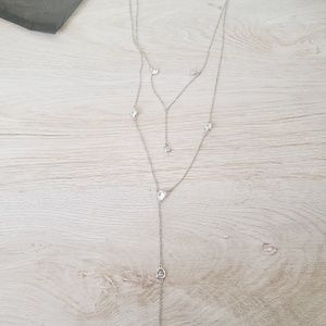 CZ by Kenneth JayLane Silver Lariat Necklace